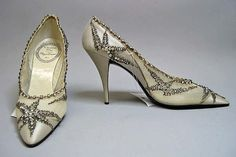 Roger Vivier for House of Dior  Evening shoes  French ca.1960