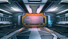 Alex Kam : 3d Environment Artist Portfolio : Sci-Fi Hallway