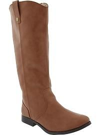 Women's Tall Faux-Leather Boots