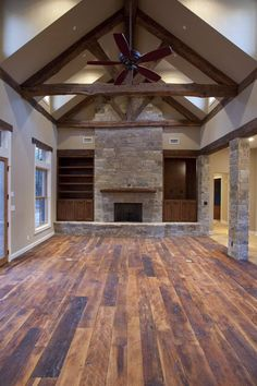 Love the floors!! Country Structure Custom Homes- Beautiful living room