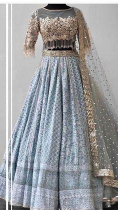 Indian wedding gowns Lehenga blouse designs Indian bridal outfits Indian wedding wear Indian wedding dress Lehenga blouse - Beautiful Chikankari LehengaCholi with beautiful hand embroidered blous - Indian Wedding Gowns, Indian Bridal Outfits, Indian Gowns Dresses, Wedding Dresses, Designer Party Wear Dresses, Indian Designer Outfits, Lehnga Dress, Lehenga Blouse, Sabhyasachi Lehenga