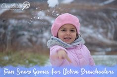 Fun Snow Games for Active Preschoolers by CareLuLu Fun Outdoor Activities, Outdoor Games For Kids, Snow Fun, Good Parenting, Winter Fun, Get Outside, Tween, Kids Playing, Little Ones