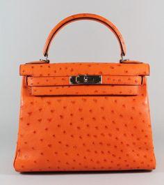 New Auth Hermes Soufre Leather Jypsiere 28 cm Messenger Handbag ...