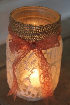 DIY Mason Jar Luminaries