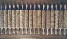 Dachshund pattern - wooden engraved rolling pin to emboss your cookies.