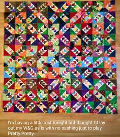 Briony is sharing her Wild & Goosey progress, one of my Addicted to Scraps column blocks with Quiltmaker magazine! Free printable paper piecing  pattern at Quiltmaker.com!  Looking great, Briony! #quilt #quilting #patchwork #quiltville #bonniekhunter #quiltsbyyou