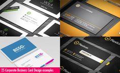 25 Creative Corporate Business Card Design examples. Read full article: http://webneel.com/25-creative-corporate-business-card-design-examples   more http://webneel.com/business-cards   Follow us www.pinterest.com/webneel