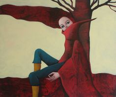 ~EvelinaOliveira on DeviantArt Modern Art, Contemporary Art, Red Riding Hood, Shades Of Red, Lady In Red, Art For Kids, Fairy Tales, 1, Artwork