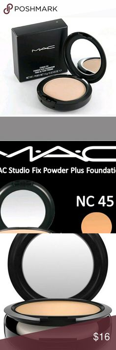 MAC FIX POWDER! 50%OFF! Flawless finish/coverage One step fix powder. See images for specs. New in box never opened never touched pictures are stock pictures. See my closet for other shades. I also have MAC eyeshadow lipstick and cream liquid foundation. MAC Cosmetics Makeup Foundation