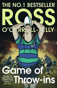 Game of Throw-ins published 2016 by Ross O'Carroll-Kelly.   In Now @ Canterbury Tales Bookshop / Book exchange / Cafe, Pattaya