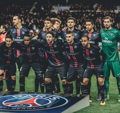 """#PSG #Squad yesterday night against #Chelsea ! Pic taken by @ahtlaqdmm #ParisEmotions #DreamBigger"""