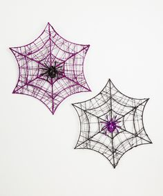 Look at this Spider on Web Wall Décor Set on #zulily today!