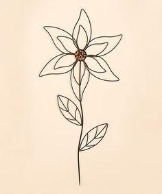 """This 31"""" Metal Flower Garden Stake is perfect! #zulilyfinds"""