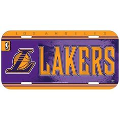 02f1e9cf442b3e NBA Los Angeles Lakers License Plate
