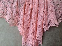 Free Pattern: wavy leaves and butterflies shawl by Athanasia Andritsou