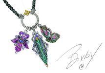 Barbara Bixby Sterling/18K Enamel  Gemstone Orchid Charm — QVC.com
