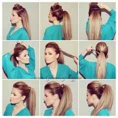 How To Make The Perfect Party Ponytail New Site Ponytail Hairstyles party Perfect Ponytail site Ponytail Hairstyles Tutorial, High Ponytail Hairstyles, Diy Hairstyles, Pretty Hairstyles, Ponytail Ideas, Ponytail Updo, Sporty Ponytail, Hairstyle Ideas, Hair Makeup