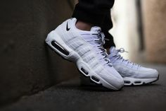 0845ca2509d Nike Air Max 95 Pure White Black Mens Shoes   Trainers was now Quick Buy  and Quick Delivery.