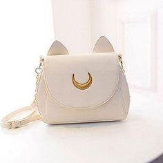 2017 New Summer Limited Sailor Moon Chain Shoulder Bag Ladies Luna Cat PU Leather Handbag Women Messenger Crossbody Small Bag