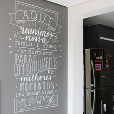 The wall stickers of . Wall stickers give exclusivity to any environment, be it the bedroom, the kitchen or any other . Wall Colors, House Colors, Different Lettering Styles, Home Pub, Chalk Design, Chalk Wall, Chalkboard Lettering, Lettering Tutorial, Letter Wall