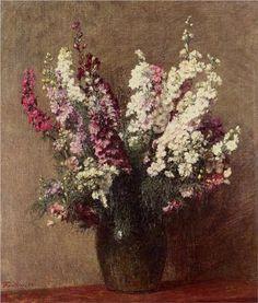 Larkspur - Henri Fantin-Latour