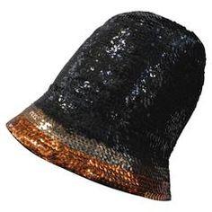 1970's Yves Saint Laurent Sequin Cloche Hat