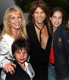 Steven Tyler with former wife Teresa Barrick,  daughter Chelsea, & son Taj