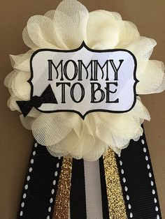 Baby Boy Bowtie Baby Shower Mommy-to-be Flower Ribbon by afalasca