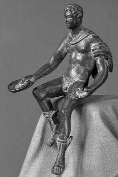 """""""Seated Mercury"""" -  about 1st century A.D, at the Carl Otto von Kienbusch Memorial Collection"""