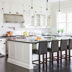 white cabinets wood floors