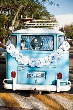 Vintage Combi for a wedding car