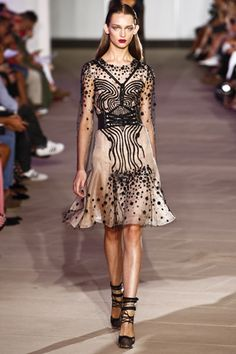 Sheer sexiness. Prabal Gurung Spring 2012 Ready-to-Wear