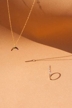 RAINBOWS ● Everything is better when there's a rainbow. Check our selection of jewellery pieces with rainbow colours.