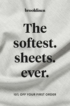 Every great sleep begins with great sheets. Brooklinen has created a whole line of luxuriously comfortable sheets, pillows and comforters that will make your entire bed feel like the cool side of the pillow. Shop the collection today and save on your Luxury Bed Sheets, Luxury Bedding, Masculine Bedding, Best Sheets, Hotel Bed, Make A Case, Good Housekeeping, Cotton Sheet Sets, Give It To Me
