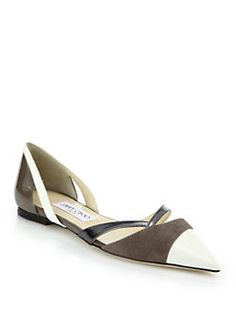 Jimmy Choo - Marcine Leather, Suede & Patent Leather Pumps