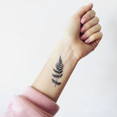 Set of 2 Fern temporary tattoo Pattern Tattoo by ArrowTattoo