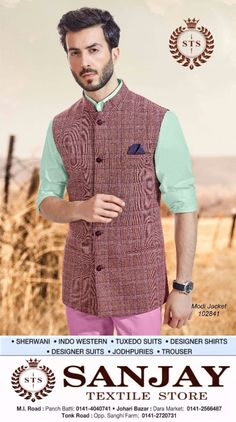 Fashion is about dressing according to what's fashionable. Style is more about being yourself !! #sanjay #textile #store #menswear #suits #best #showroom #in #jaipur #sherwani #kurta #designersuits #jackets #indowesterns #Designershirts #jodhpuries #trousers #tuxedosuits #blazer #wedding #dresses #groom #tailoring