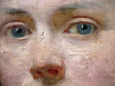 """detail of """"Portrait of Victorine Meurent"""" by Edouard Manet. Oil on canvas, 54 x 40,3 cm."""