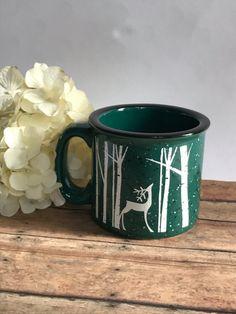 Reindeer campfire mug//reindeer coffee cup//coffee