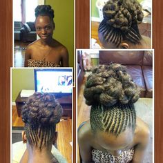 Natural hair, updo. Protective styles for natural hair.  Natural hairstyles for black women @navasbeautyhairart