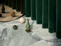 Dark Green Walls, Mirror Cabinets, Stone Flooring, Beautiful Interiors, Home Projects, Tile Floor, Tiles, Interior Design, Inspiration