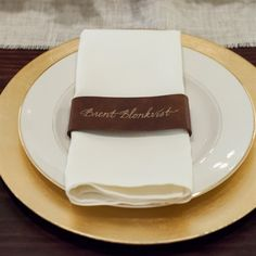 Napkin Ring Place Cards