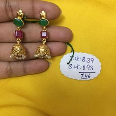Art And Craft Jewelry Gold Jhumka Earrings, Jewelry Design Earrings, Gold Earrings Designs, Gold Jewellery Design, Ear Jewelry, Craft Jewelry, Gold Jewelry Simple, Gold Wedding Jewelry, Gold Chain Design