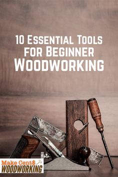 Know the basic essential tools needed for beginner woodworkers to add to their shop. Create amazing wooden DIY crafts with the right tools. Outdoor Wood Projects, Wood Projects That Sell, Woodworking Projects That Sell, Woodworking Books, Woodworking Ideas, Wood Crafts, Diy Crafts, Woodworking Basics, Wood Tools