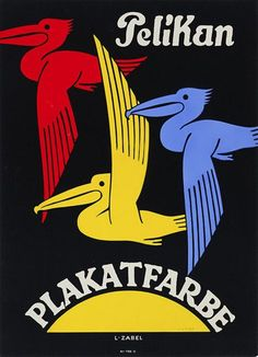 Pelikan poster paint ~ Lucian Zabel