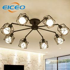 Best  EICEO Chinese ceiling light Living room lamp moderne kristall deckenleuchten acrylic aluminum body LED
