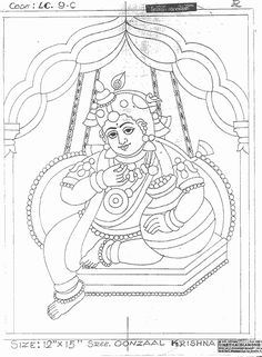 Shri Krishna Janmashtami Coloring Printable Pages For Kids