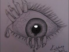 drawing of scary eye with sad hindi poem kuldeep yadav global - scary drawing pictures Scary Halloween Drawings, Creepy Drawings, Dark Art Drawings, Pencil Art Drawings, Art Drawings Sketches, Cute Drawings, Halloween Pictures, Easy Sketches, Horror Drawing
