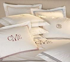 Grand Embroidered 280-Thread-Count Duvet Cover & Shams #potterybarn