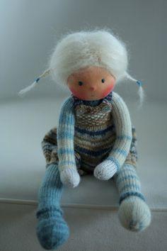 Waldorf knitted doll Tiia 13 by Peperuda dolls by danielapetrova